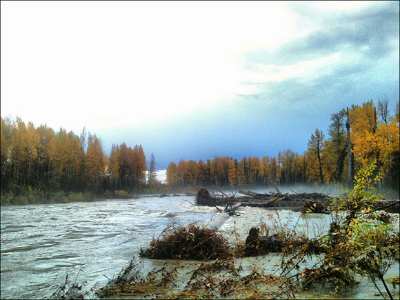 Talkeetna River in the Flood of September 2012