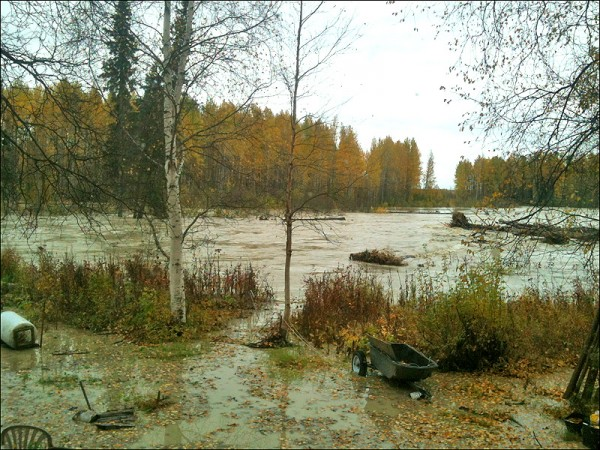 Flooding Talkeetna River, September 2012