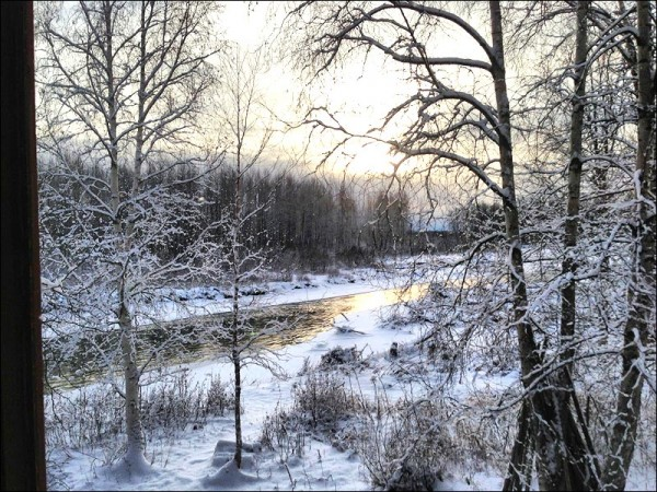 Sunlight on the Talkeetna River, November 2012