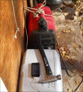 Generator charging iPhone flood of 2012