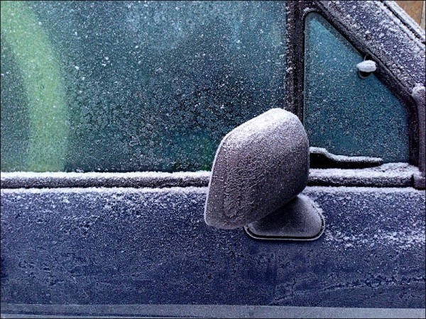 Frost on truck, Talkeetna Alaska